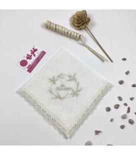 Pañuelo de bautismo Modelo flor