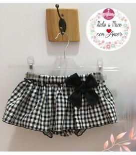 Ranita - falda vichy negro