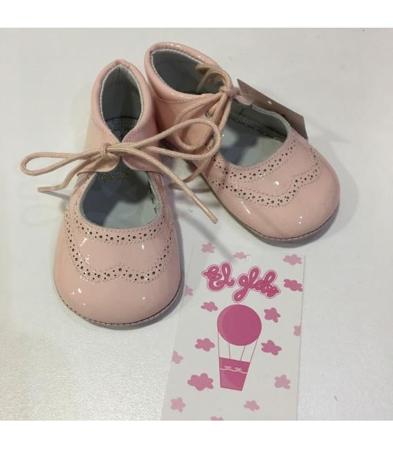 Zapato de charol  rosa niña MF128