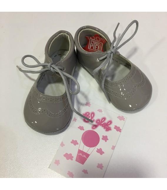 Zapato de charol gris niña MF 128