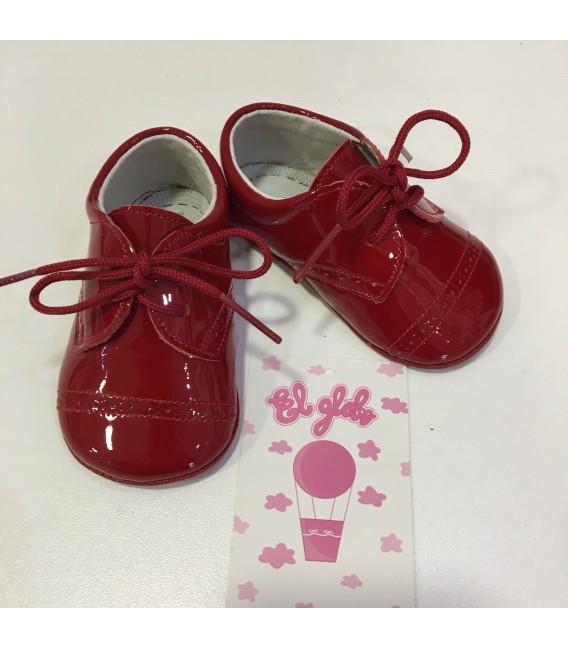 Zapatos de charol rojo niño MF 112