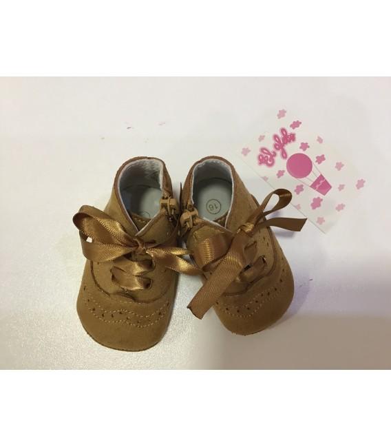 MA2 color camel zapato de serraje con lazo
