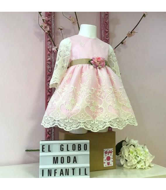 Vestido de ceremonia princesa rosa